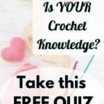 Crochet Knowledge Quiz - yarn and hooks