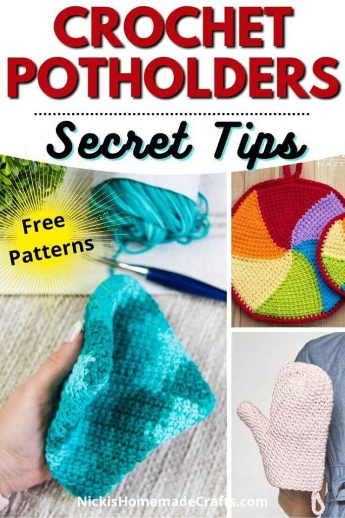 Crochet Potholder 5 ways and patterns