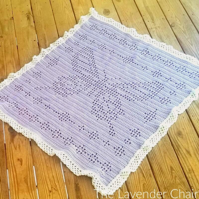 Filet Butterfly Blanket Free Crochet Pattern