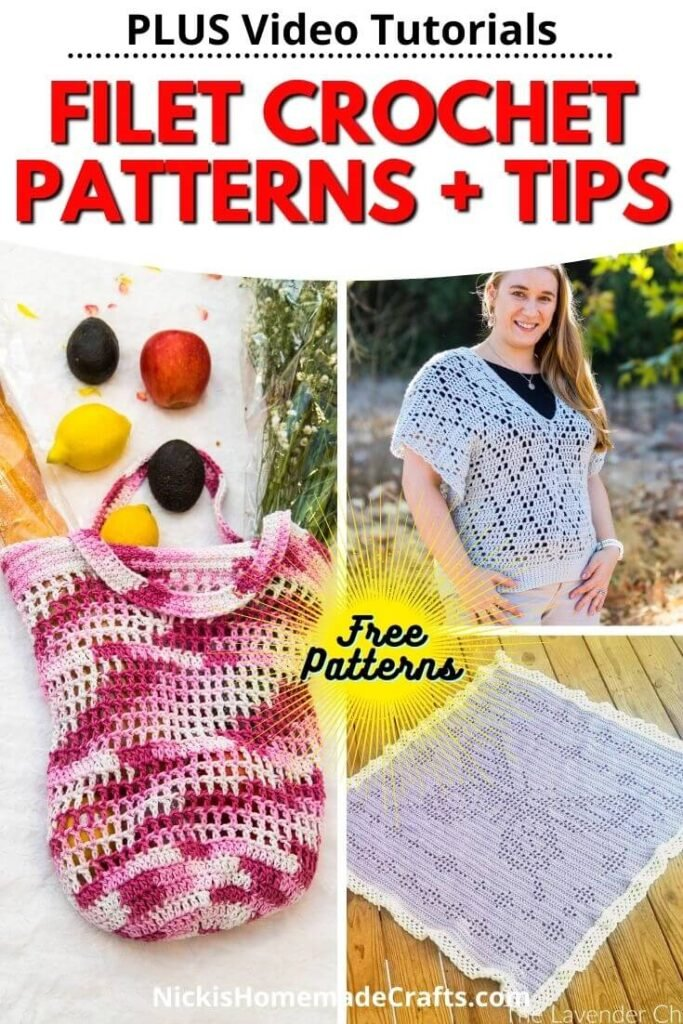 Filet Crochet Patterns and tips and video tutorials