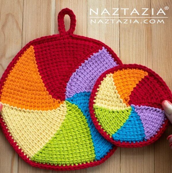 circular crochet potholder