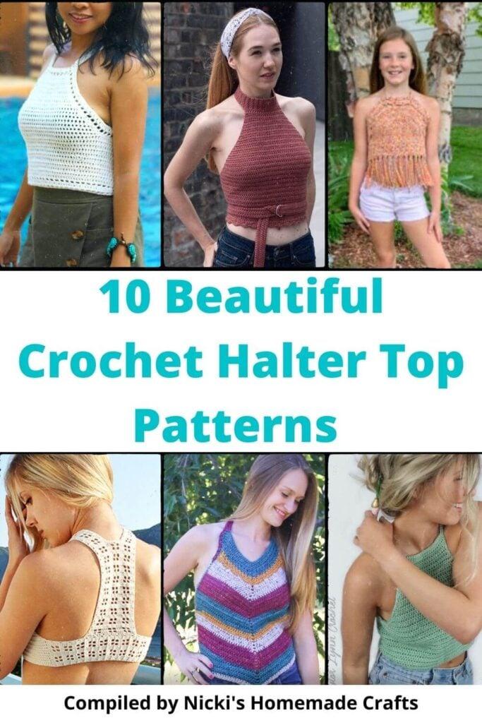 10 Beautiful Crochet Halter Top Patterns For Summer