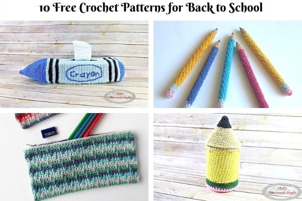10 FREE CROCHET PATTERNS FOR BACK TO SCHOOL
