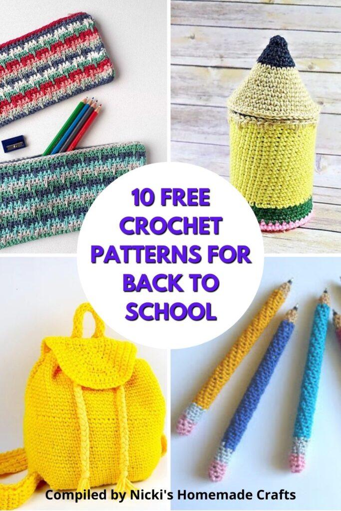10 free crochet patterns for school season