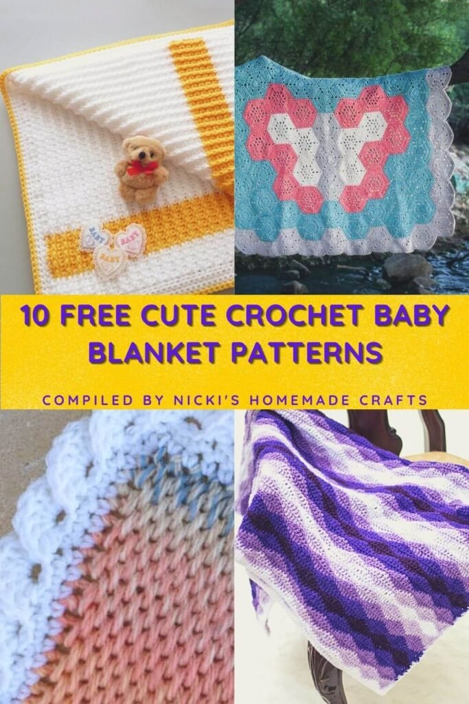 10 free cute crochet baby blanket patterns round up