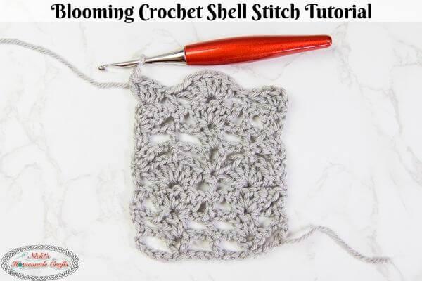 Blooming Crochet Shell Stitch Tutorial