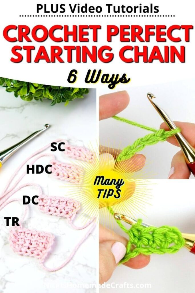 Crochet Perfect Starting Chains with 6 ways and tips and videos