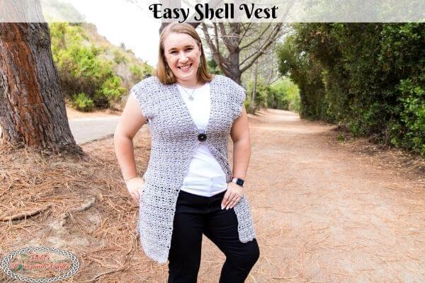 Easy Crochet Shell Vest Free Pattern