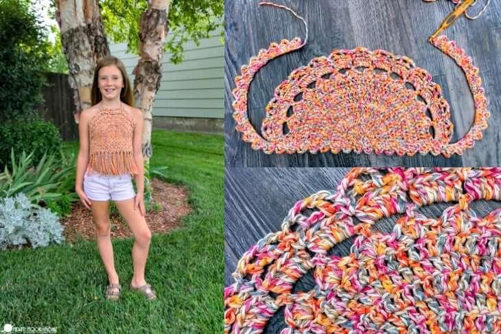 Girls Boho Crochet Top