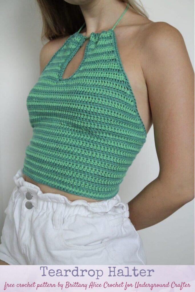 Teardrop Crochet Top Pattern