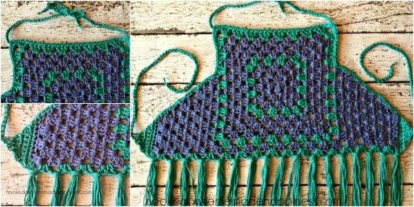Granny Square Crochet Halter Top