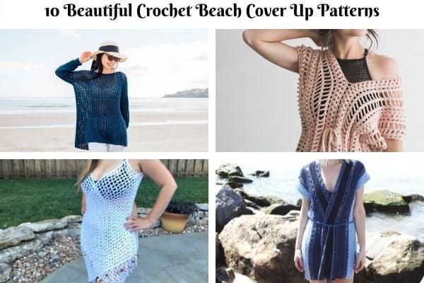 10 FREE Beautiful Crochet Beach Cover Up Patterns