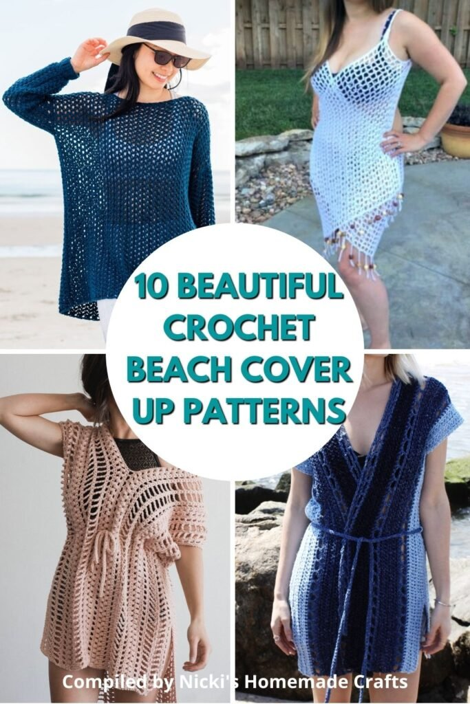 round up of crochet beach cover up patterns