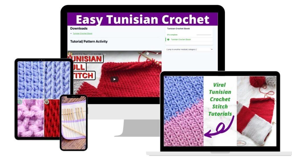 Tunisian Crochet Beginner Ebook