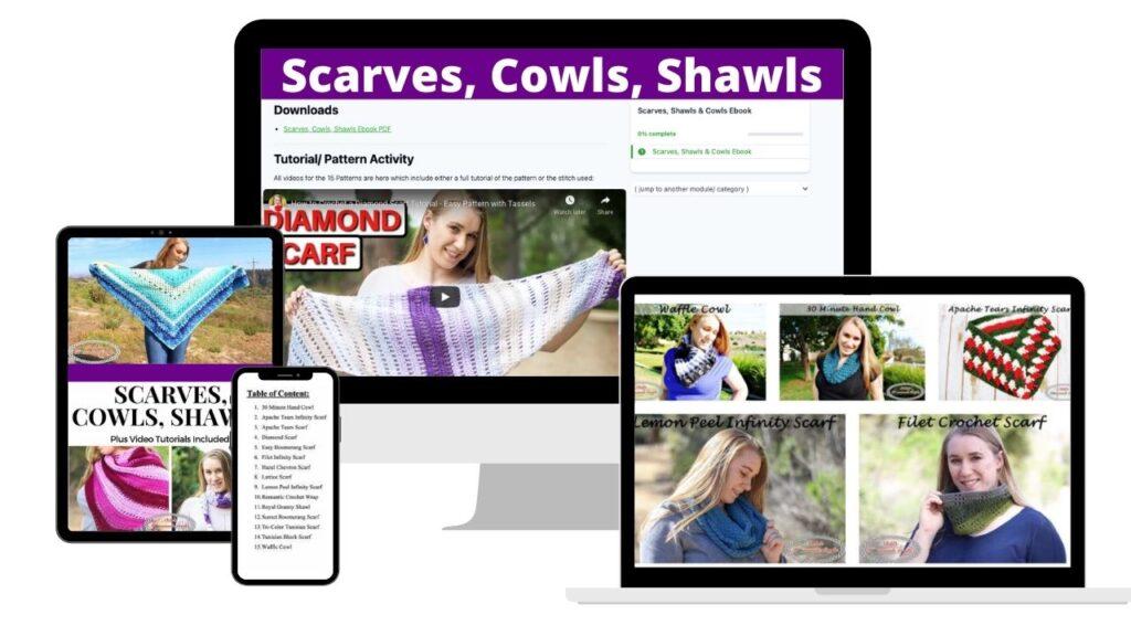 Scarves, Shawls, Cowls Crochet Pattern Ebook