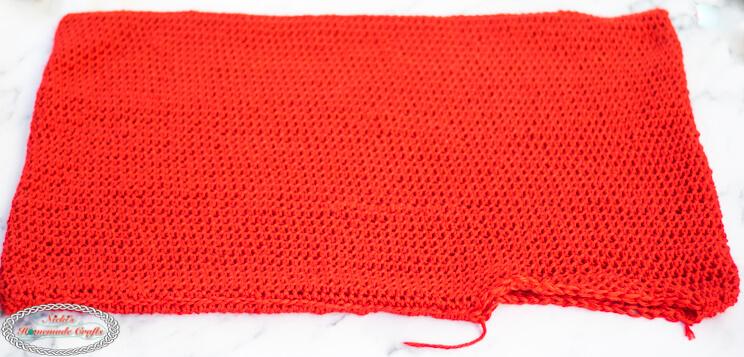 Red pillow case for Advent Calendar Pillow