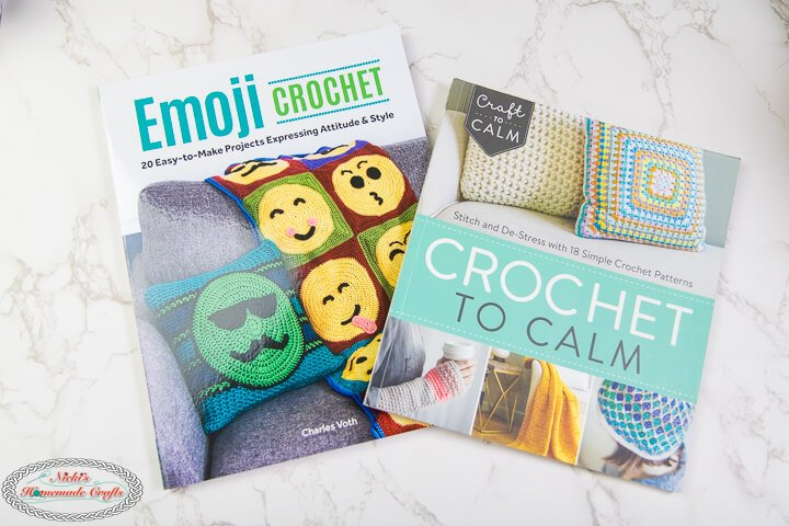 emoji crochet and crochet to calm book