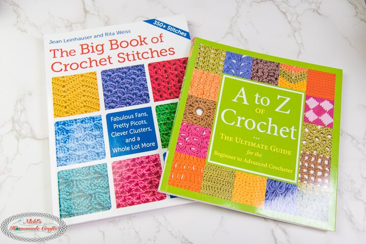big book of crochet stitches and A to Z Crochet book