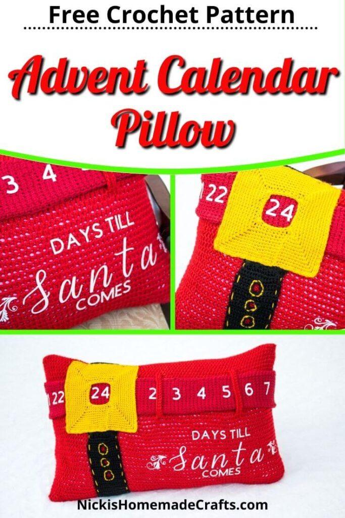 Crochet Advent Calendar Pillow Free Pattern