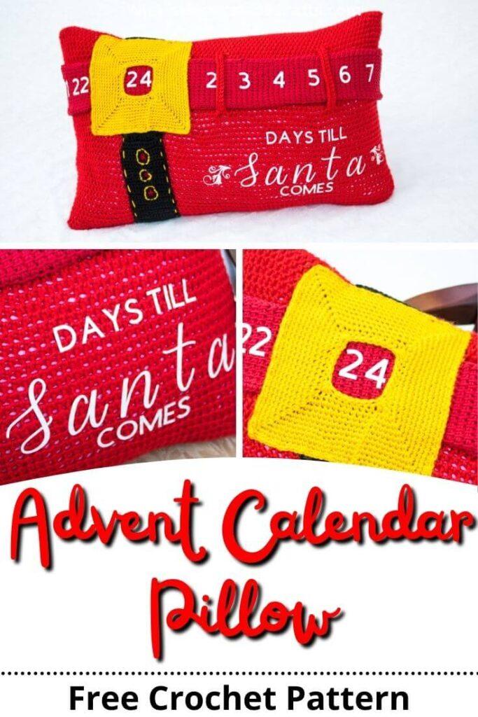 Crochet Advent Calendar Pillow Pattern