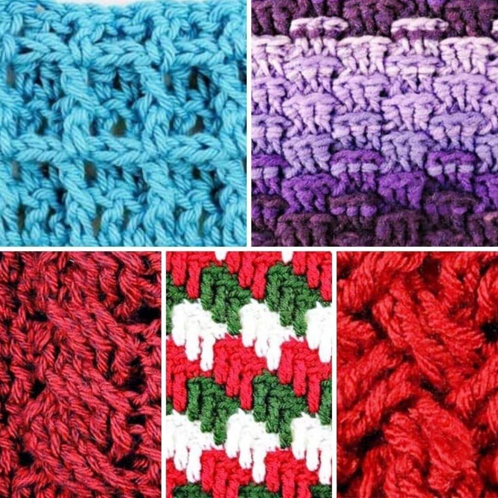 Textured Crochet Blanket Stitches