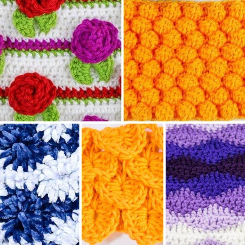 Unique Crochet Stitches for Blankets