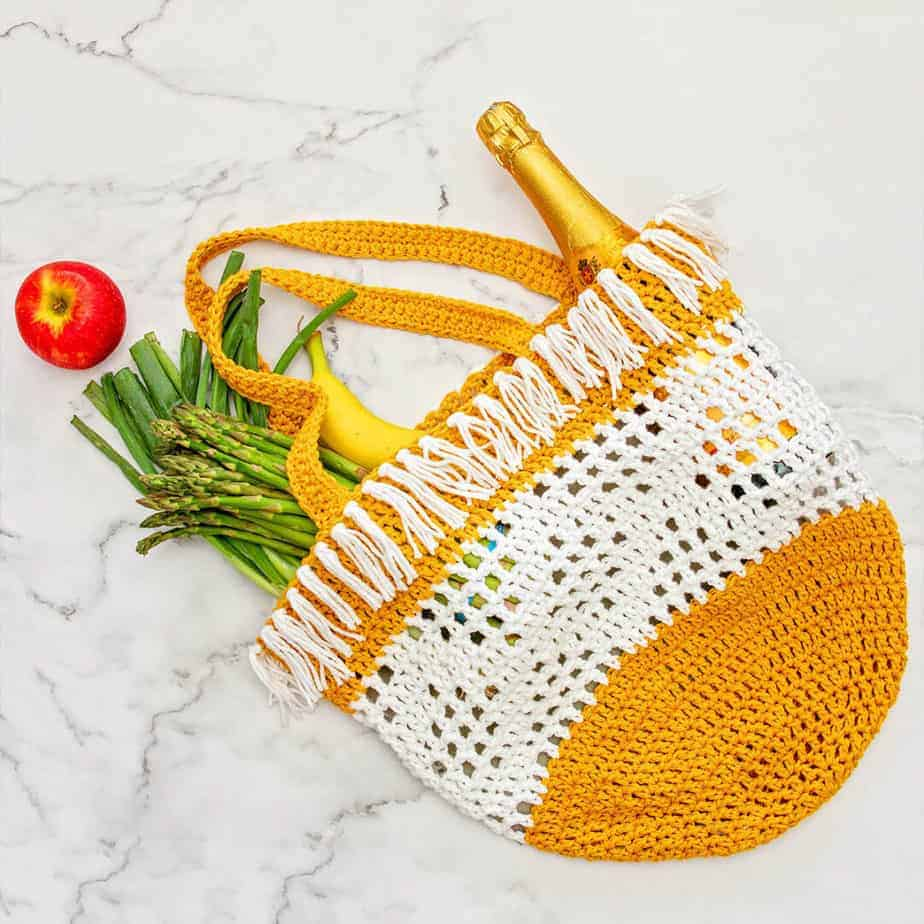 Crochet Boho Grocery Bag