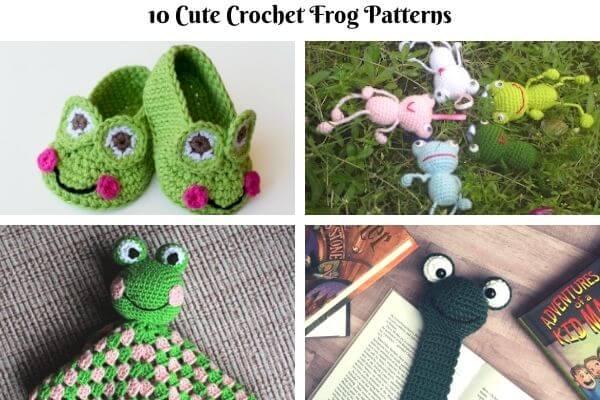 10 cute crochet frog patterns