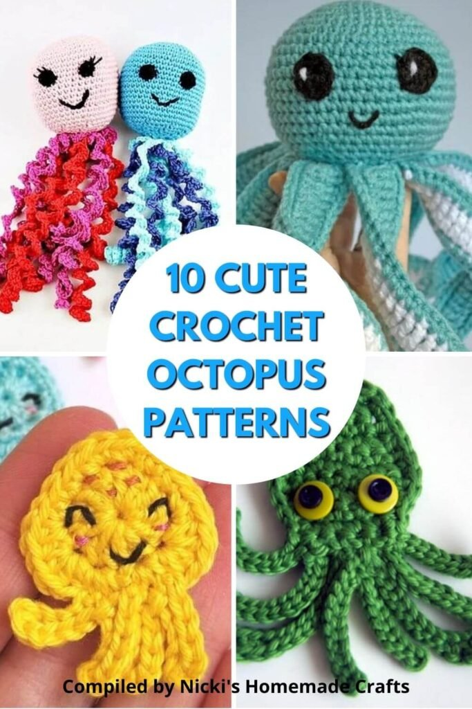 10 cute and free crochet octopus patterns