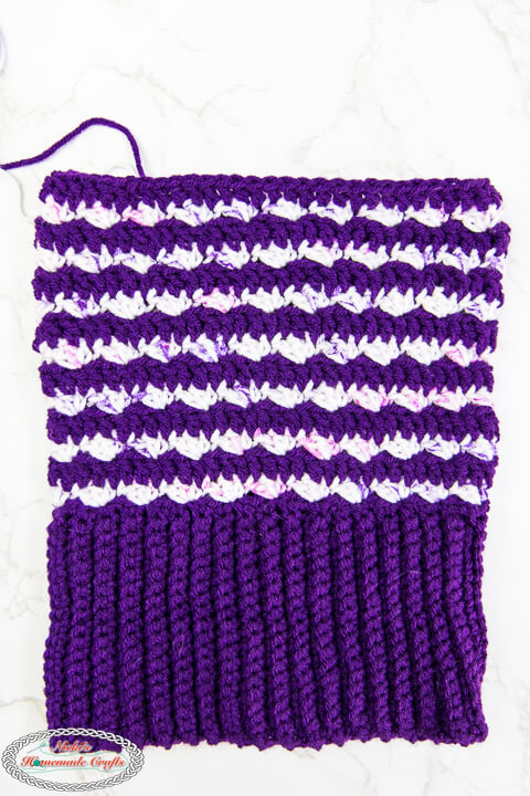 Bottom Up Striped Crochet Hat Pattern