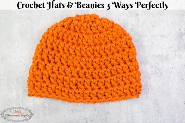 how to crochet beanie 3 ways