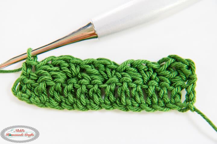 Crochet Silt Stitch 2 rows