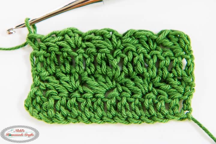 Crochet Silt Stitch 4 rows