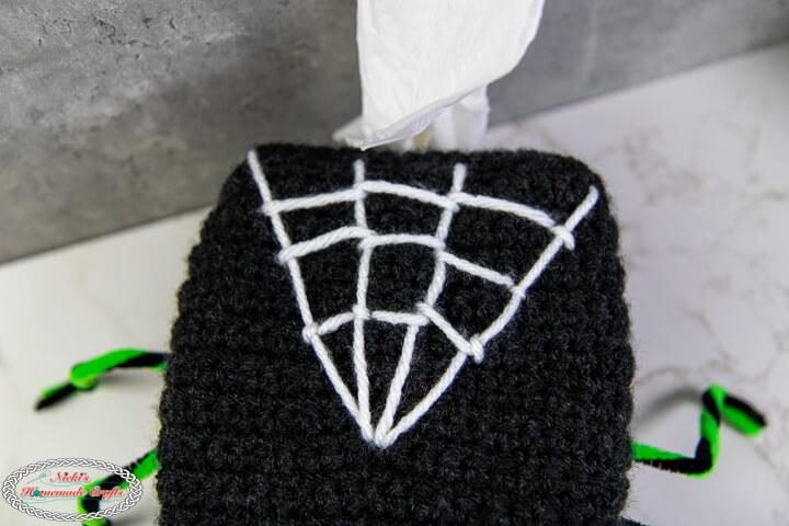 Spider Web on Spider Tissue Box Cover