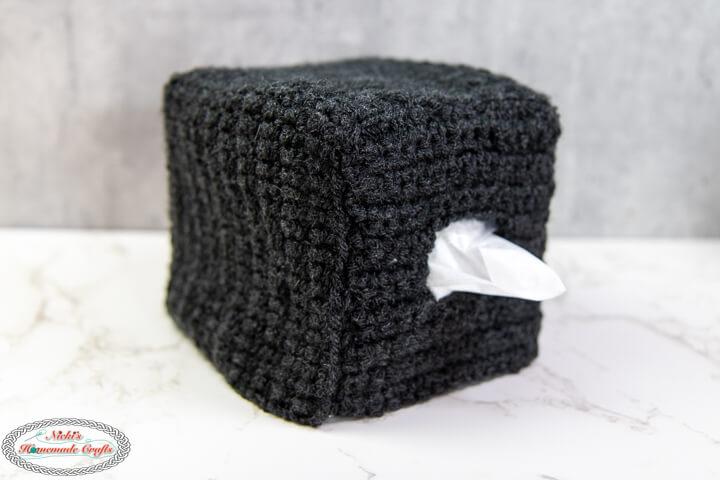 Body of Crochet Spider Tissue Box Cover