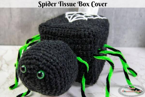 Crochet Spider Tissue Box Cover Pattern