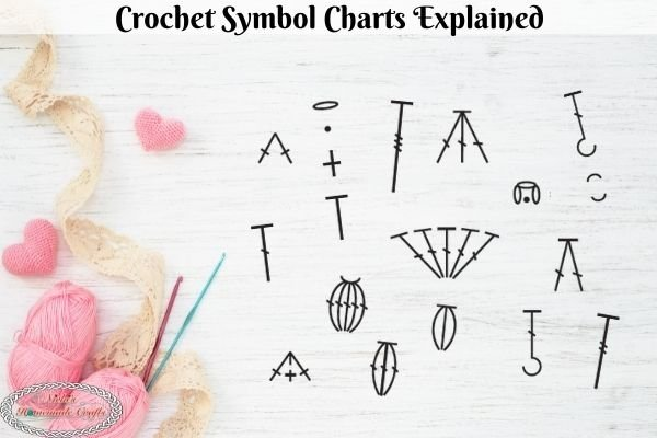 Crochet Symbol Charts Explained with Free Heart Pattern