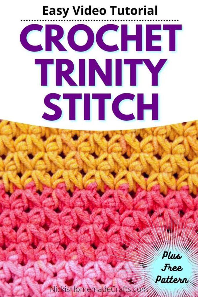 Crochet Trinity Stitch Tutorial
