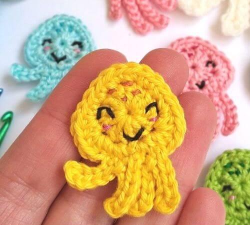 Crochet Octopus Appliques