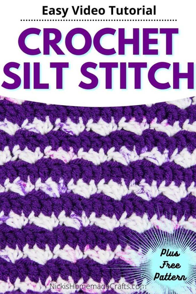 Easy Crochet Silt Stitch Tutorial