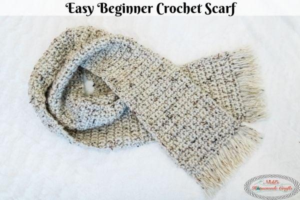 Easy beginner crochet scarf pattern free