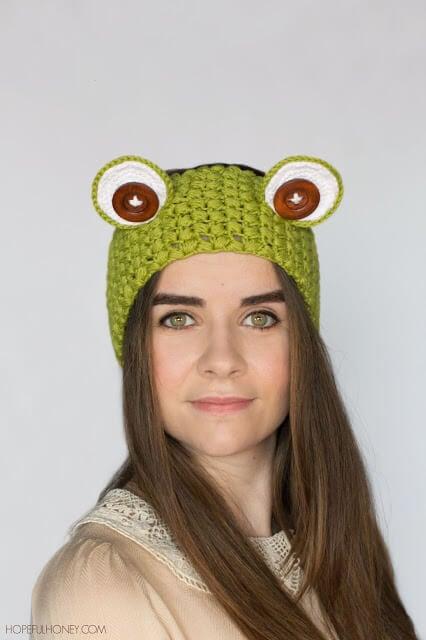 Frog Headband Crochet Pattern