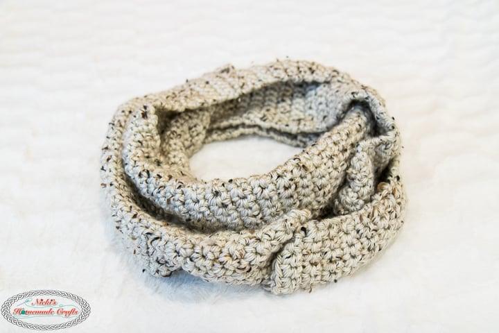 crochet infinity scarf or crochet cowl
