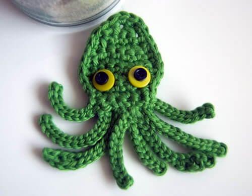 Kraken Squid Crochet Octopus Applique