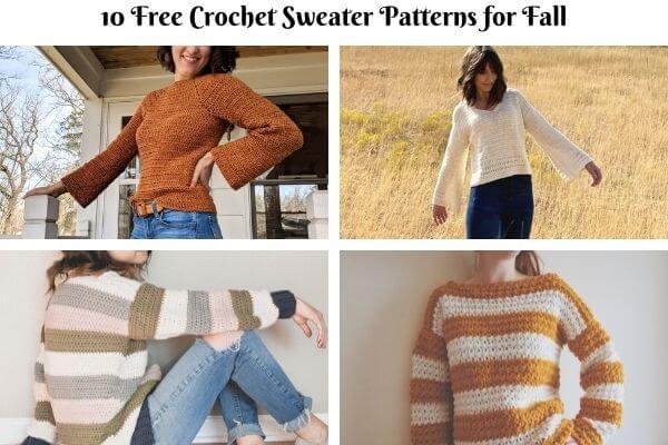 10 Amazing Fall Crochet Sweater Patterns