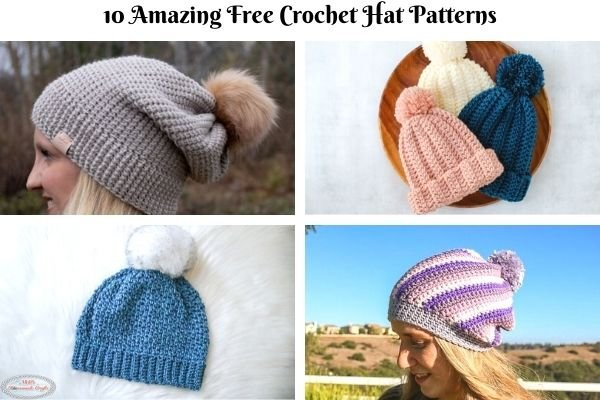 10 Most Popular Free Crochet Hat Patterns for Fall and Winter
