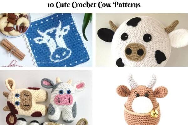 crochet cow patterns round up
