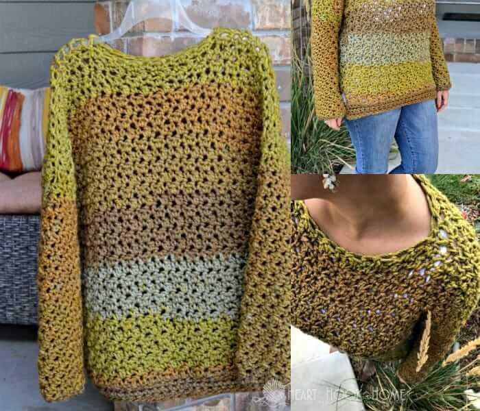 Four-Hour Fall Sweater Free Crochet Pattern