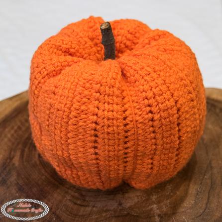 Large Orange Linked Crochet Pumpkin Pattern