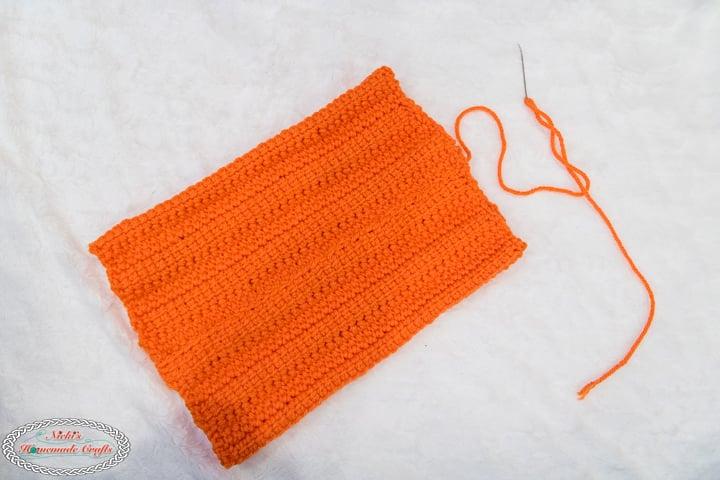 Sew Large Crochet Pumpkin